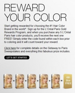 Loreal Paris Gold Rewards
