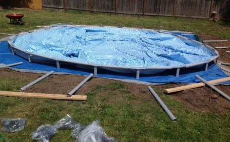 setting up above ground pool - Intex Pools